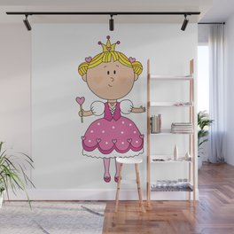Pink Love Girl - Valentines Day Wall Mural
