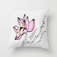 lotus Throw Pillows featuring Lotus by Vitta