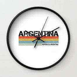 Argentina- Republica Argentina County Retro Style Print Wall Clock