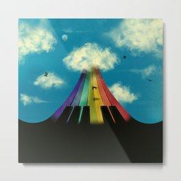 Seven notes, seven colors Metal Print