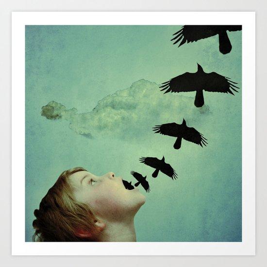 bird brains Art Print