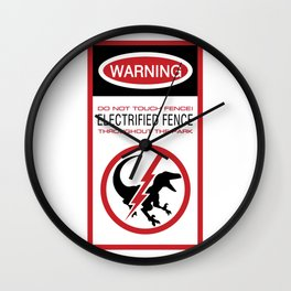 JW Warning Label Wall Clock