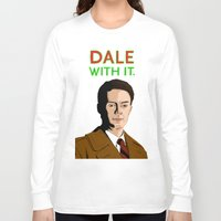dale cooper Long Sleeve T-shirts featuring DALE WITH IT. by Chris Piascik