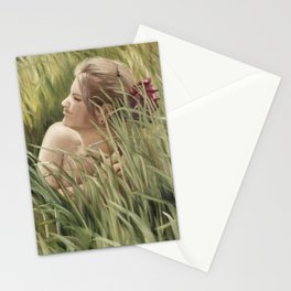 She Hears Bells in the Birdsong Stationery Cards