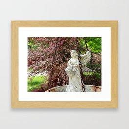Angel Bird Feeder Framed Art Print