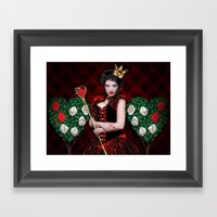 Painting The Roses Red Framed Art Print