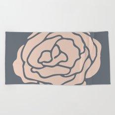 Rose Vintage Rose Pink on Pebble Gray Beach Towel