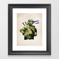 Polygon Heroes - Leonardo Framed Art Print