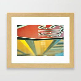 Big Yellow Bus Framed Art Print