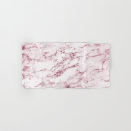 Contento rosa pink marble Hand & Bath Towel