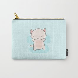 Kawaii Cute Snow Angel Cat Carry-All Pouch
