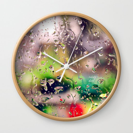 Rainy day! Wall Clock