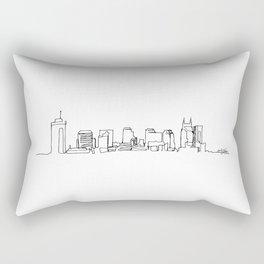 Nashville Skyline Drawing Rectangular Pillow