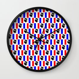 Mix of flag: France and Corsica Wall Clock
