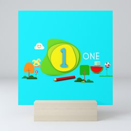 Number one - Kids Art Mini Art Print