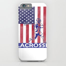 Lacrosse Flag print LAX Player Coach Team product iPhone Case