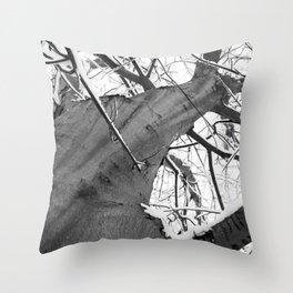 Snow Topped Tree Throw Pillow