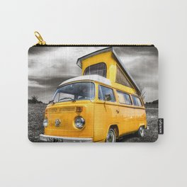 Classic yellow vw camper van Carry-All Pouch