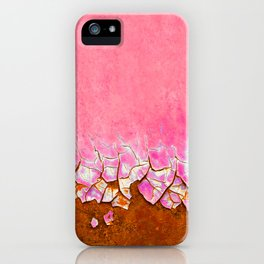 Pink and Rust iPhone Case