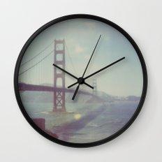 Golden Gate - Polaroid Wall Clock