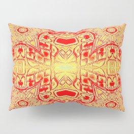 Red & Gold Stars Pillow Sham