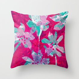 Hot Pink Paradise II Throw Pillow