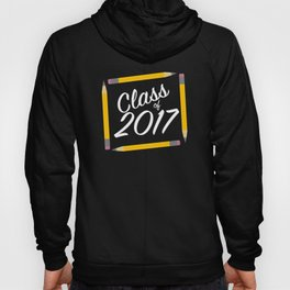 Class of 2017, white font Hoody