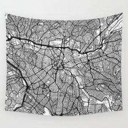 Sao Paulo Map Gray Wall Tapestry