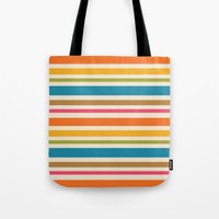 stripe Tote Bags featuring stripe by bobbybard