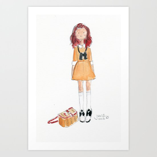 Suzy (Moonrise Kingdom) Art Print