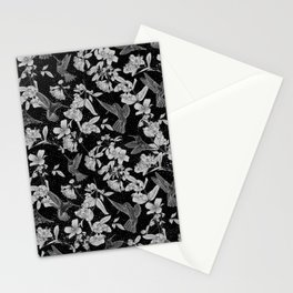 Black and White Hummingbird Paradise Stationery Cards