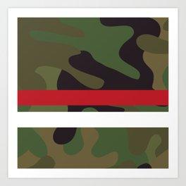Pattern Army Camouflage Art Print