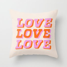much love Throw Pillow