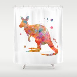 Colorful Kangaroo Shower Curtain