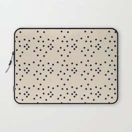 Geometrical black ivory abstract polka dots Laptop Sleeve