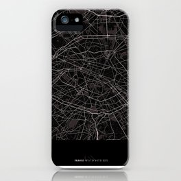 Paris France Map With Coordinates iPhone Case