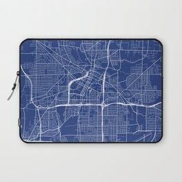 Akron Map, USA - Blue Laptop Sleeve