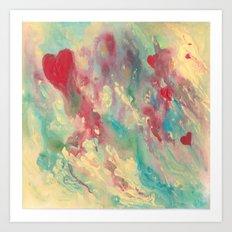 Breaking Heart Art Print