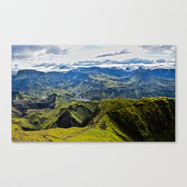Icelandic Fjord Canvas Print