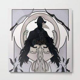 Bloodborne art nouveau - Eileen the Crow Metal Print