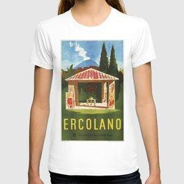 Ercolano Naples Italian summer travel ad T-shirt