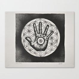 Grasping Infinite Canvas Print