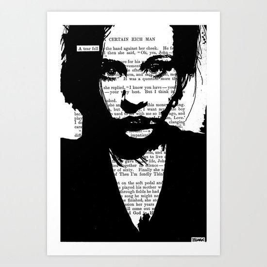 A Tear Fell Art Print