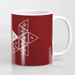 Red Unrolled D20 Coffee Mug