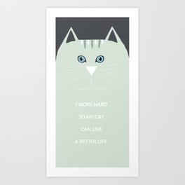 I <3 cats Art Print