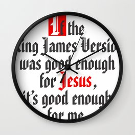 King James Version Wall Clock