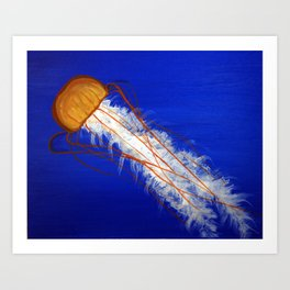 Jelly fish flow Art Print