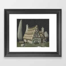 Fairytale Cottage Framed Art Print
