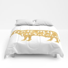 LEAVE MY TITS ALONE vegan cow quote Comforters
