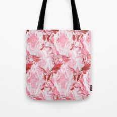 Guardian Angel (Red) Tote Bag